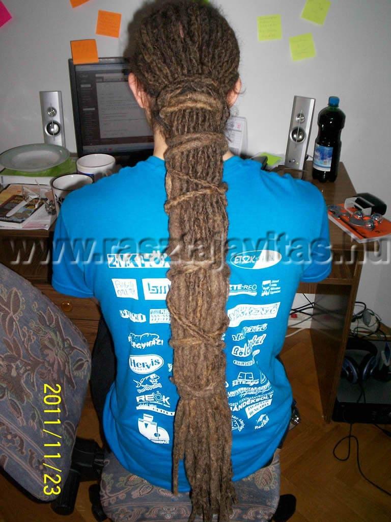 raszta haj felkötés gyors kötés sporthoz